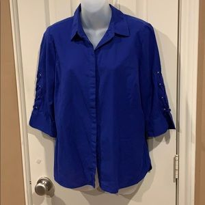 Royal blue button-up blouse. Chico's sz 1P /Small